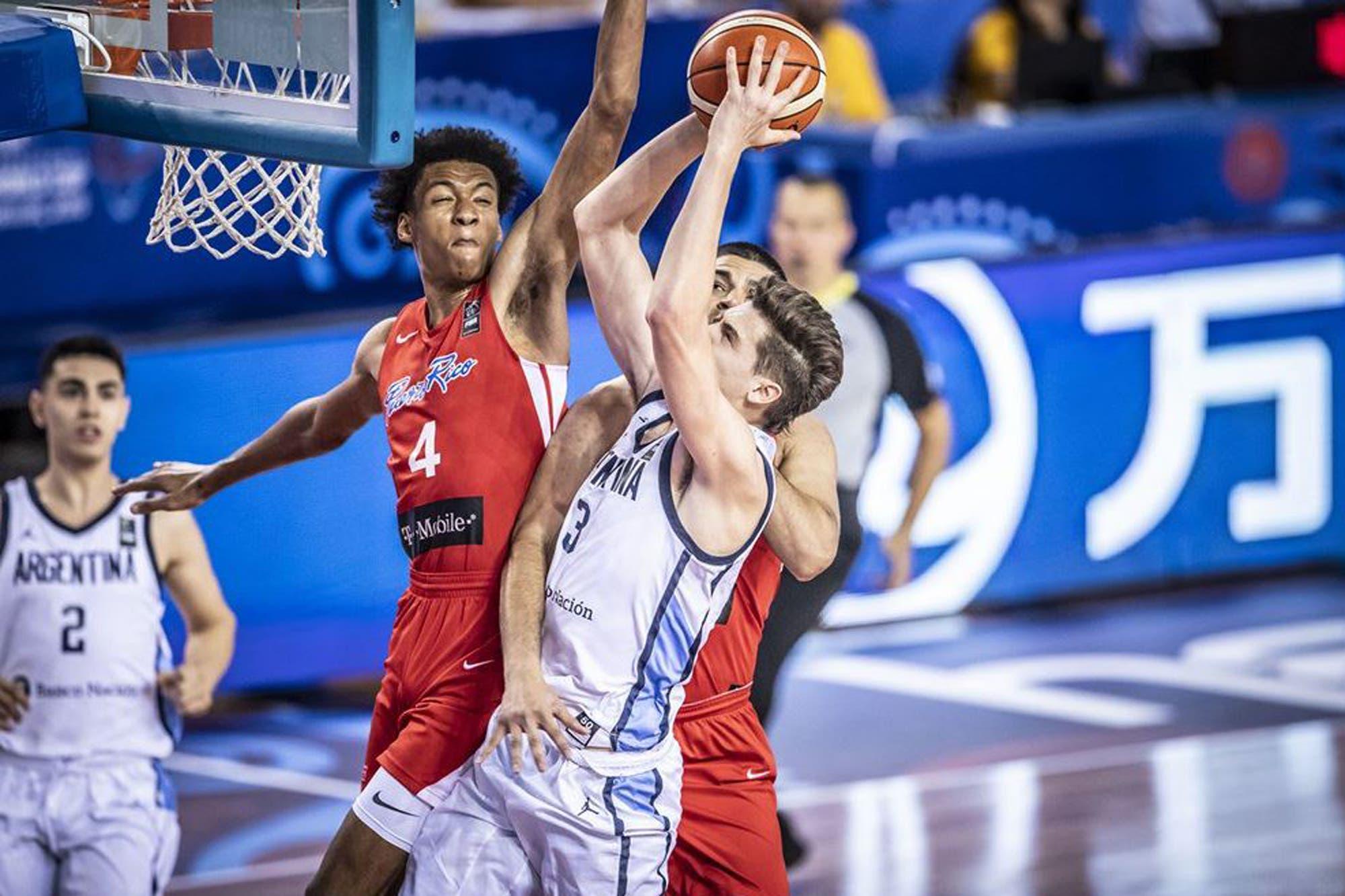 Mundial U19 de básquetbol. La Argentina tropezó con Puerto Rico en los octavos de final
