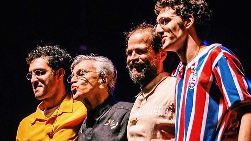 Caetano Veloso se presenta en septiembre junto a sus hijos en la Argentina