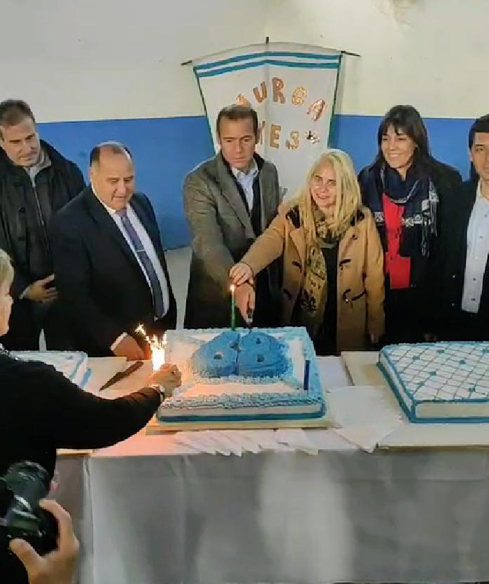 La ciudad de Senillosa festejó su 68º aniversario con anuncios y emoción