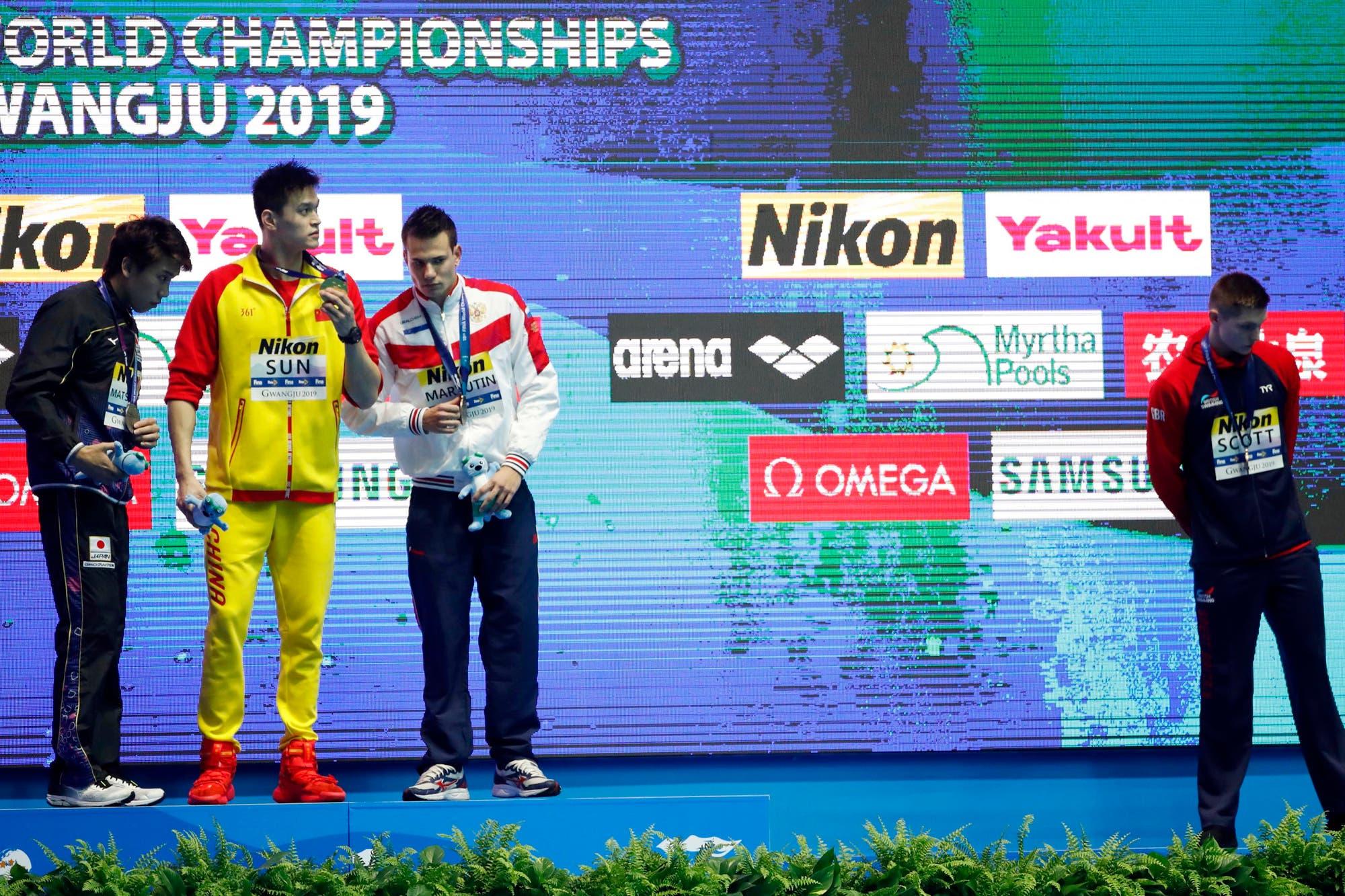 El nadador chino al que sus rivales odian: no lo saludan ni comparten el podio