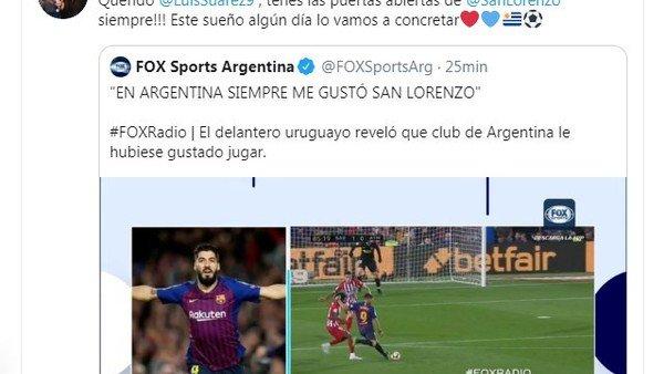 La propuesta de Marcelo Tinelli para que Luis Suárez juegue en San Lorenzo