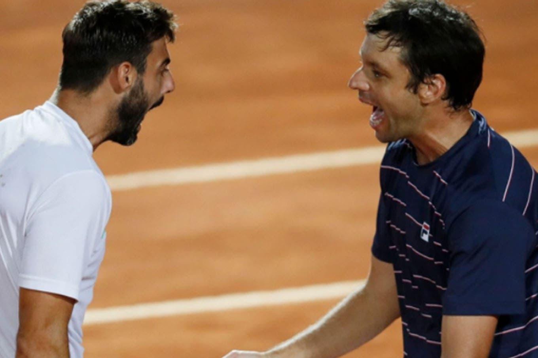 Masters 1000 de Roma. Horacio Zeballos festejó en dobles e igualó un récord de Guillermo Vilas