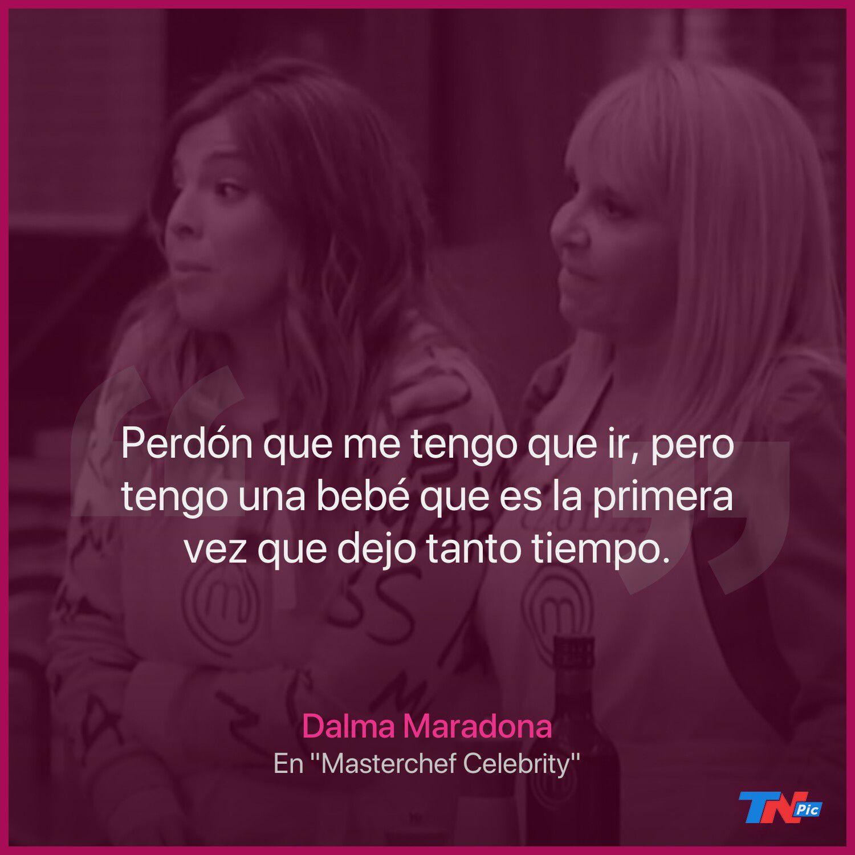 """Dalma Maradona explicó por qué abandonó """"Masterchef Celebrity"""" en medio de la grabación"""