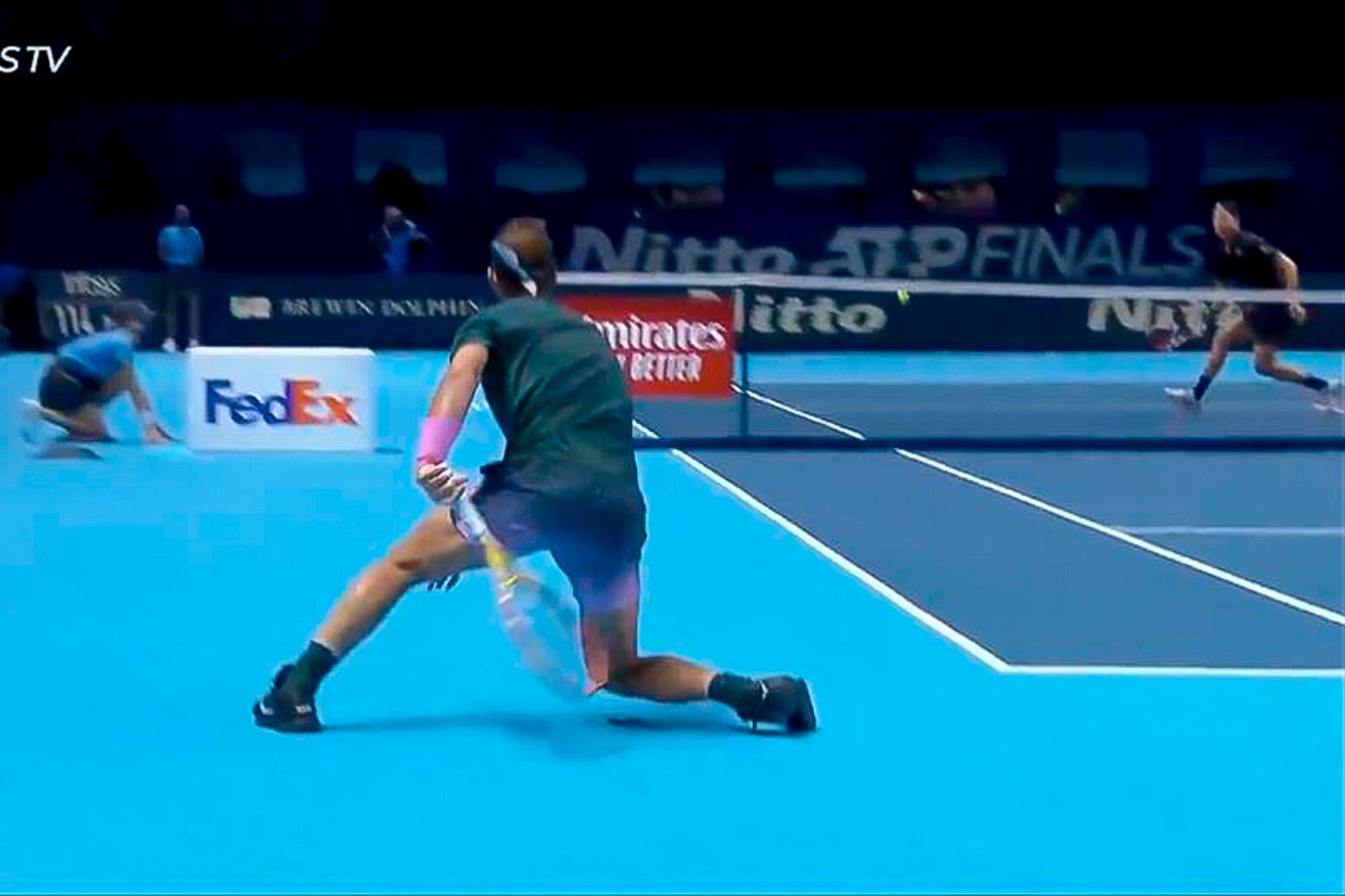 Masters de Londres: el increíble-passing shot de Rafael Nadal en la derrota ante Dominic Thiem