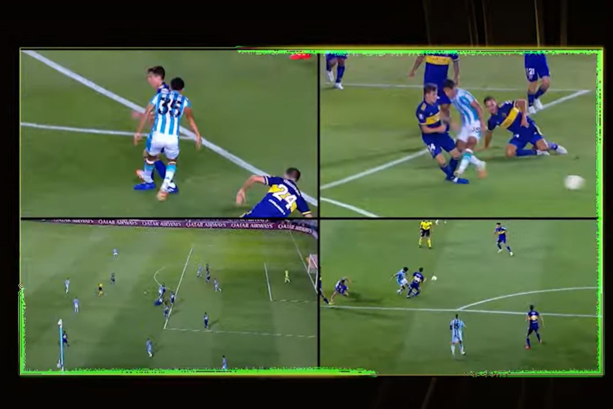 """Racing-Boca: el análisis del VAR, la """"correcta decisión"""" y por qué no expulsó ni a Melgarejo ni a Villa"""
