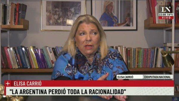 """elisa-carrio:-""""no-se-puede-votar-en-medio-del-duelo-nacional"""""""