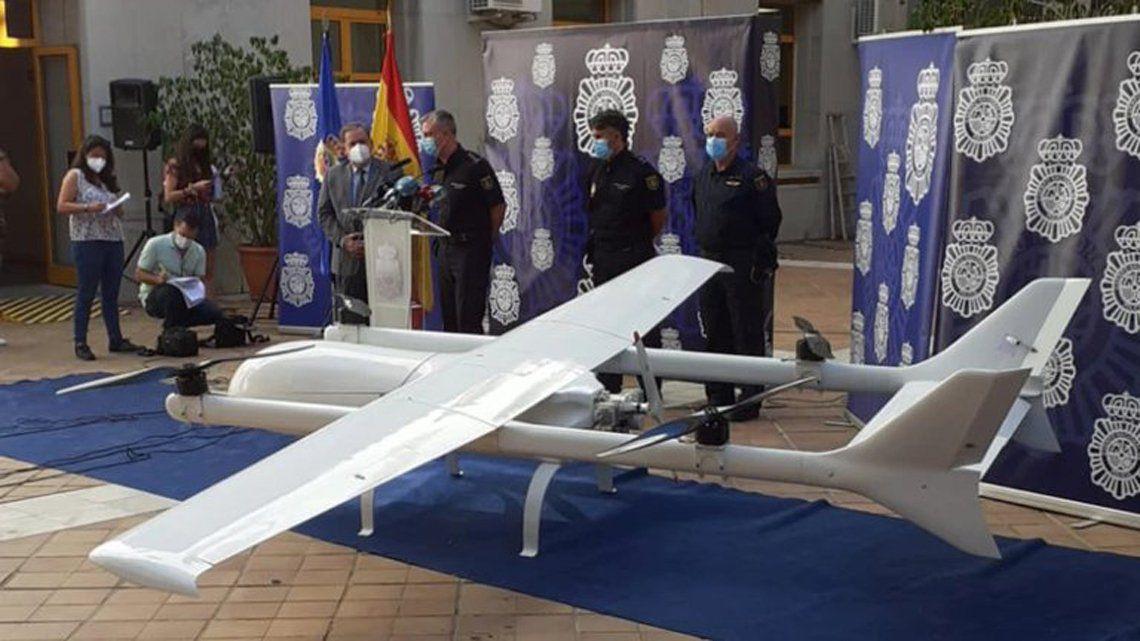 la-policia-espanola-incauta-el-narcodron-mas-grande-de-europa